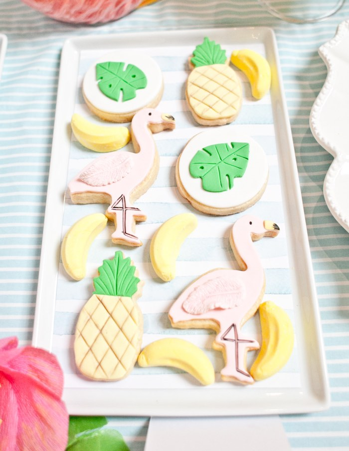 Cookies from a Spring Flamingo Birthday Party via Kara's Party Ideas - KarasPartyIdeas.com (18)