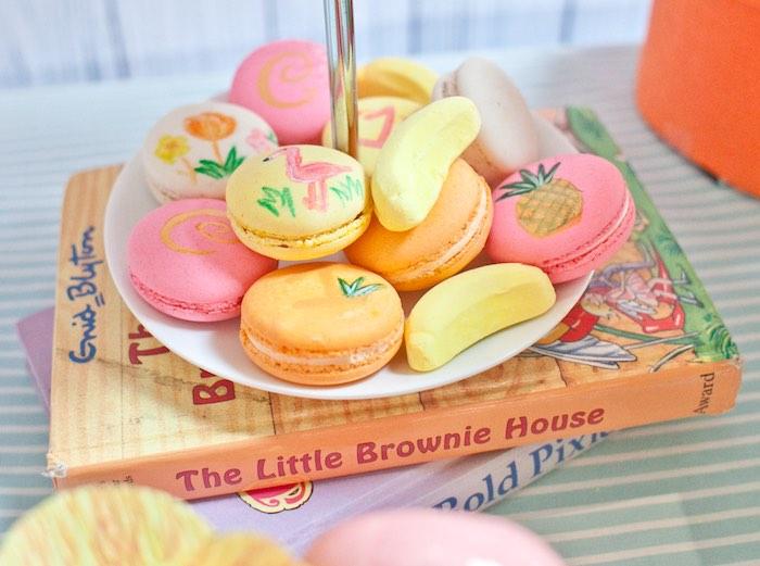 Macarons + Sugar Cookies from a Spring Flamingo Birthday Party via Kara's Party Ideas - KarasPartyIdeas.com (17)