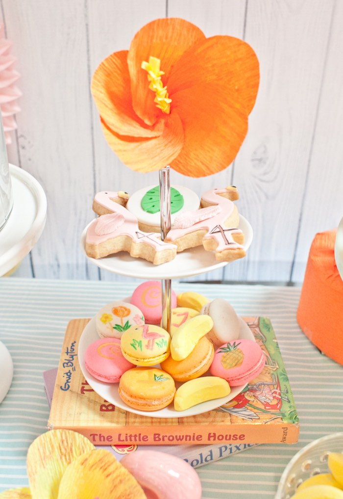 Macarons + Sugar Cookies from a Spring Flamingo Birthday Party via Kara's Party Ideas - KarasPartyIdeas.com (16)
