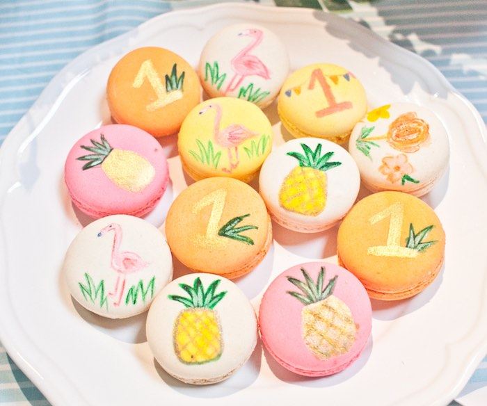 Macarons from a Spring Flamingo Birthday Party via Kara's Party Ideas - KarasPartyIdeas.com (15)