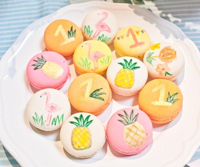 Macarons from a Spring Flamingo Birthday Party via Kara's Party Ideas - KarasPartyIdeas.com (15)