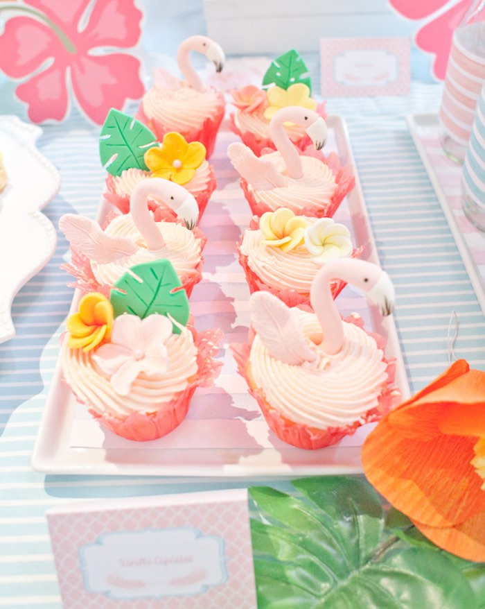 Flamingo-inspired Cupcakes from a Cupcakes from a Spring Flamingo Birthday Party via Kara's Party Ideas - KarasPartyIdeas.com (14)