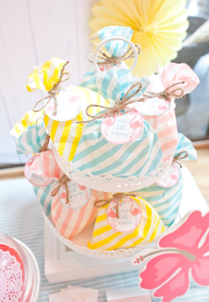 Favors from a Spring Flamingo Birthday Party via Kara's Party Ideas - KarasPartyIdeas.com (12)