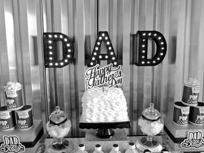 """Dad You're a Classic"" Father's Day Party via Kara's Party Ideas KarasPartyIdeas.com (18)"