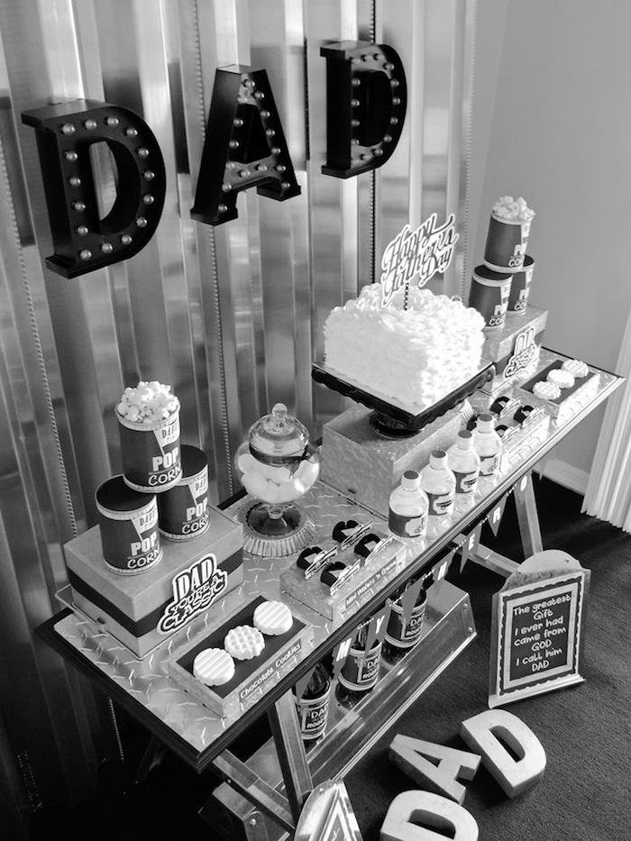 """Dad You're a Classic"" Father's Day Party via Kara's Party Ideas KarasPartyIdeas.com (17)"