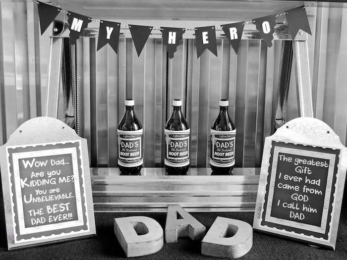 """Dad You're a Classic"" Father's Day Party via Kara's Party Ideas KarasPartyIdeas.com (13)"