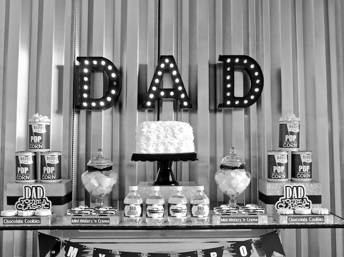 """Dad You're a Classic"" Father's Day Party via Kara's Party Ideas KarasPartyIdeas.com (10)"