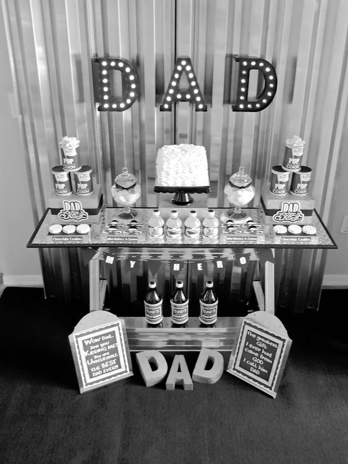 """Dad You're a Classic"" Father's Day Party via Kara's Party Ideas KarasPartyIdeas.com (6)"