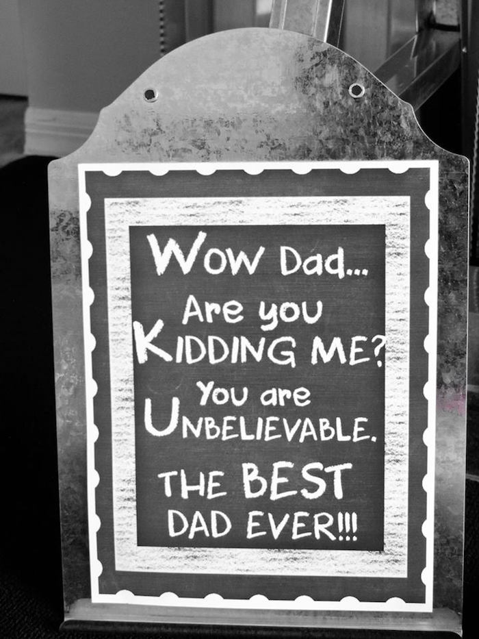"""Dad You're a Classic"" Father's Day Party via Kara's Party Ideas KarasPartyIdeas.com (5)"