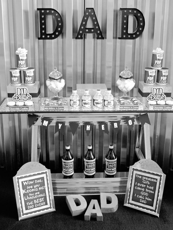 """Dad You're a Classic"" Father's Day Party via Kara's Party Ideas KarasPartyIdeas.com (24)"