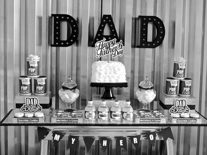 """Dad You're a Classic"" Father's Day Party via Kara's Party Ideas KarasPartyIdeas.com (21)"