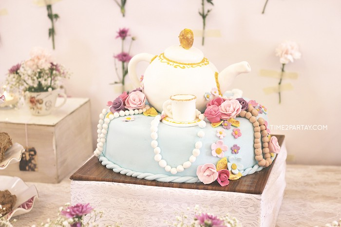 cake from an afternoon tea bridal shower via karas party ideas karaspartyideascom 32