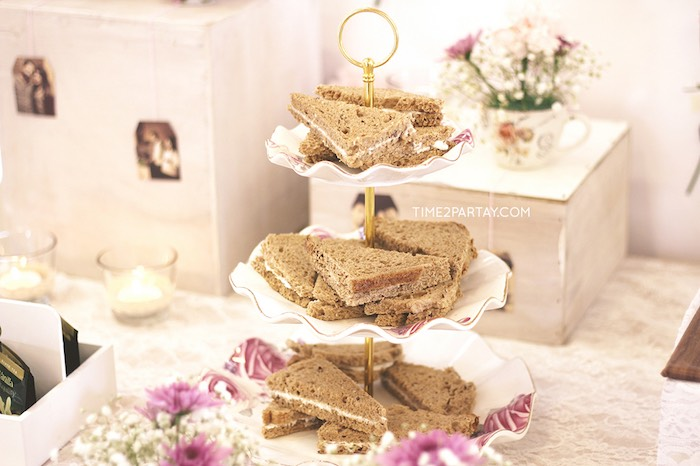 Sandwiches from an Afternoon Tea Bridal Shower via Kara's Party Ideas KarasPartyIdeas.com (29)