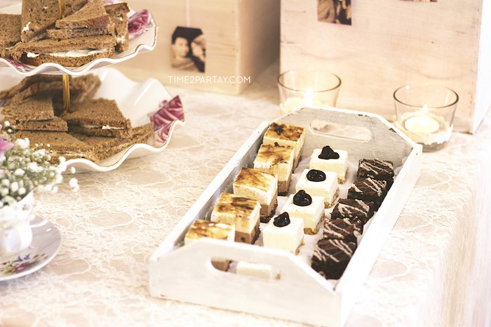 sweets from an afternoon tea bridal shower via karas party ideas karaspartyideascom 28