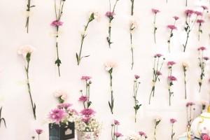Flower Backdrop from an Afternoon Tea Bridal Shower via Kara's Party Ideas KarasPartyIdeas.com (27)