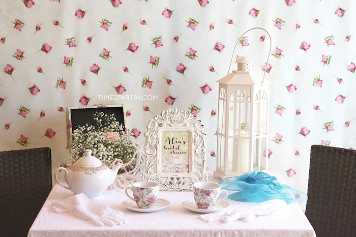 table table photo booth from an afternoon tea bridal shower via karas party ideas karaspartyideas