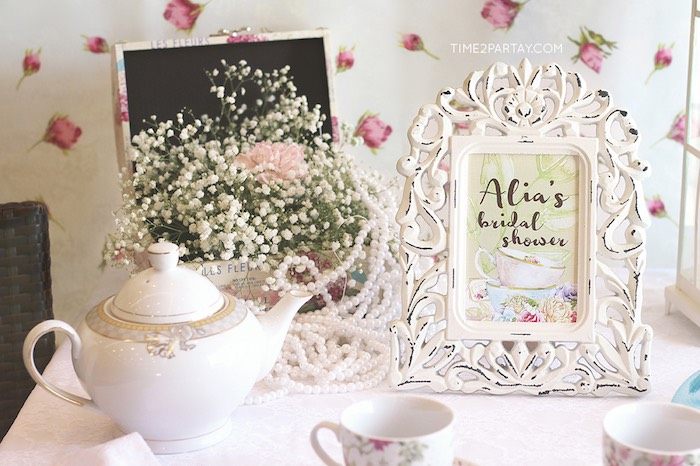 details decor from an afternoon tea bridal shower via karas party ideas karaspartyideascom