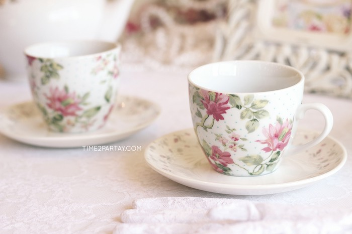 Tea Cups + Saucers from an Afternoon Tea Bridal Shower via Kara's Party Ideas KarasPartyIdeas.com (17)