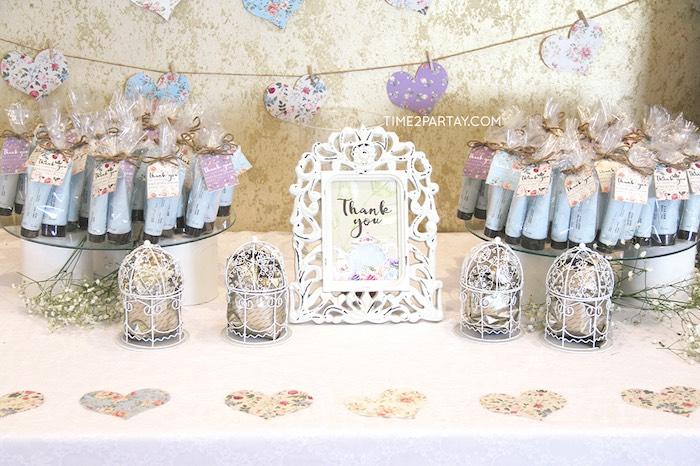 favor activity table details from an afternoon tea bridal shower via karas party ideas karaspartyideas