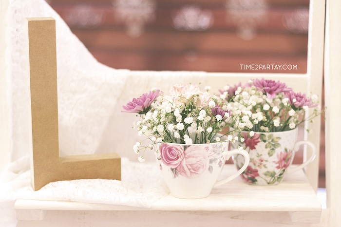 Tea Cup Floral Centerpieces + Decor from an Afternoon Tea Bridal Shower via Kara's Party Ideas KarasPartyIdeas.com (37)