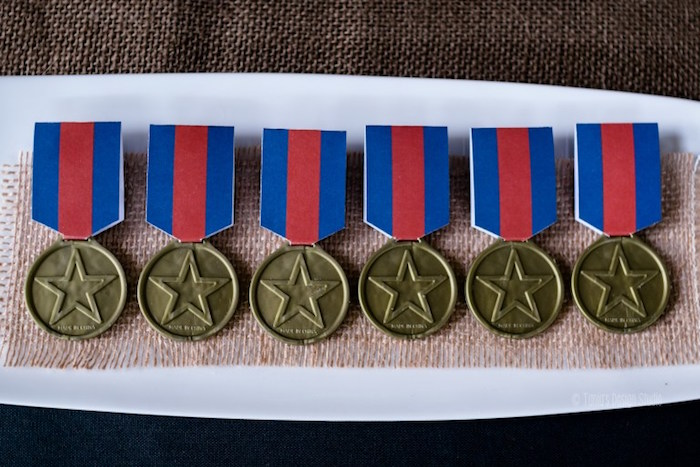 Medal of Honor favors from an Army Themed Birthday Party via Kara's Party Ideas | KarasPartyIdeas.com- The place for all things Party! (47)