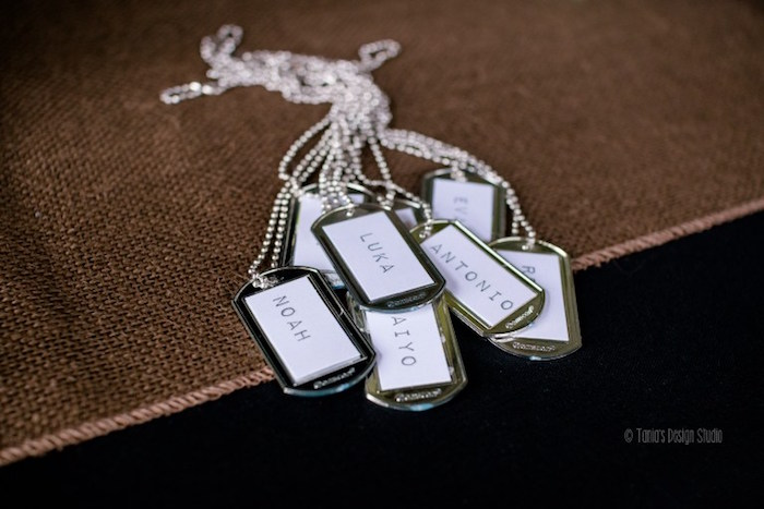 Tags from an Army Themed Birthday Party via Kara's Party Ideas | KarasPartyIdeas.com- The place for all things Party! (38)