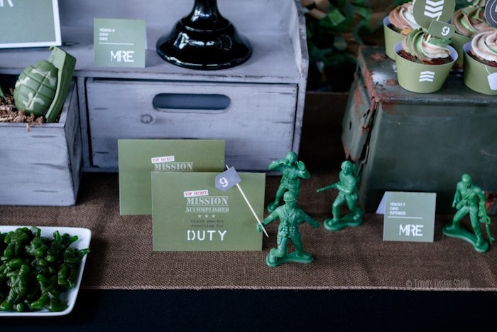 Sweet table details from an Army Themed Birthday Party via Kara's Party Ideas | KarasPartyIdeas.com- The place for all things Party! (31)
