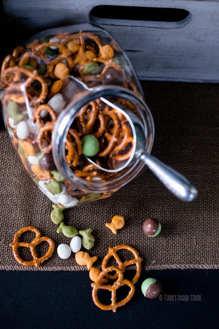 Trail mix from an Army Themed Birthday Party via Kara's Party Ideas | KarasPartyIdeas.com- The place for all things Party! (30)