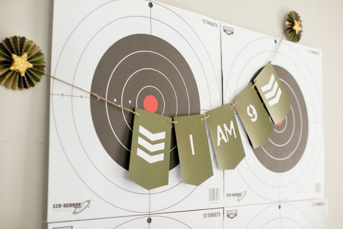 Banner from an Army Themed Birthday Party via Kara's Party Ideas | KarasPartyIdeas.com- The place for all things Party! (22)