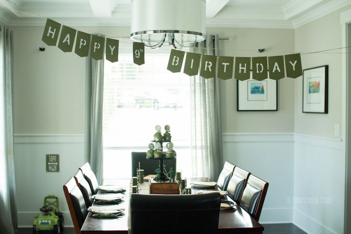 Mess Hall Table from an Army Themed Birthday Party via Kara's Party Ideas | KarasPartyIdeas.com- The place for all things Party! (18)
