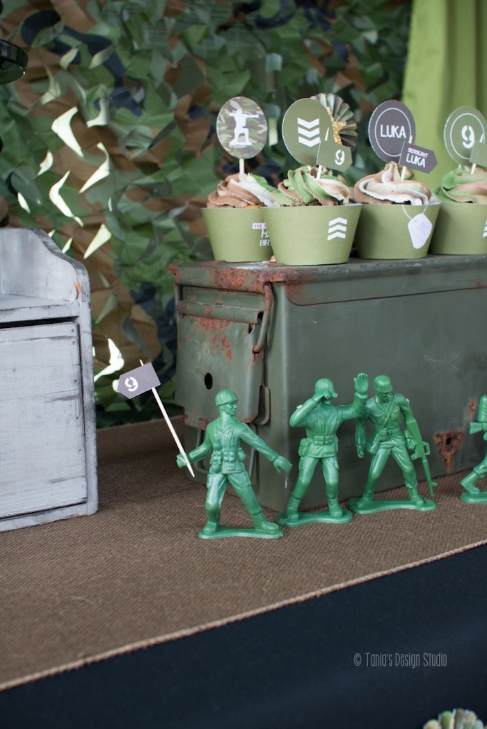 Details from an Army Themed Birthday Party via Kara's Party Ideas | KarasPartyIdeas.com- The place for all things Party! (53)