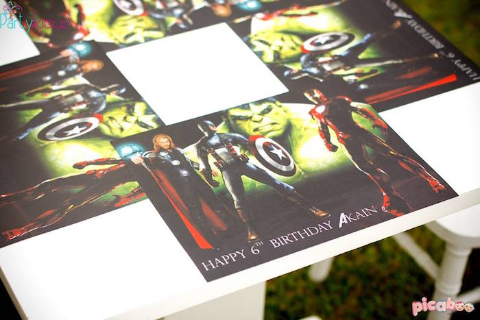 Avenger placemats from an Avengers Themed Birthday Party via Kara's Party Ideas | KarasPartyIdeas.com (25)