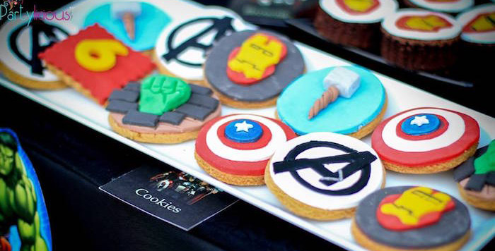 Cookies from an Avengers Themed Birthday Party via Kara's Party Ideas | KarasPartyIdeas.com (2)
