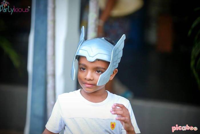 Little boy from an Avengers Themed Birthday Party via Kara's Party Ideas | KarasPartyIdeas.com (41)