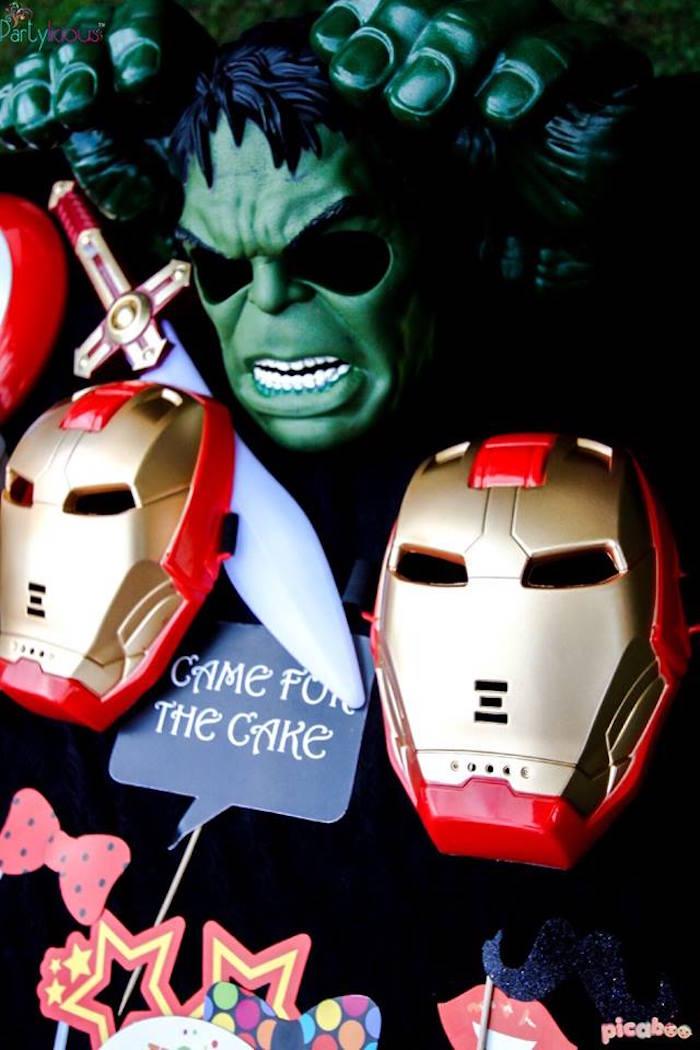 Avenger Masks from an Avengers Themed Birthday Party via Kara's Party Ideas | KarasPartyIdeas.com (39)