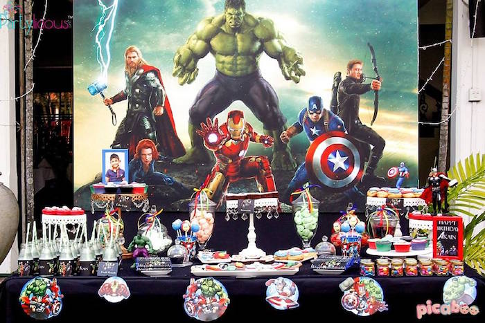 Avengers Birthday Cake Toppers