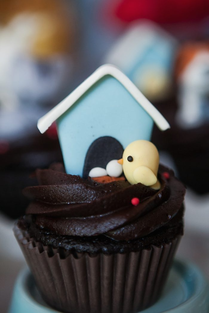 Bird nest cupcake from a Beanie Boos Pet Adoption Themed Birthday Party via Kara's Party Ideas | KarasPartyIdeas.com (44)