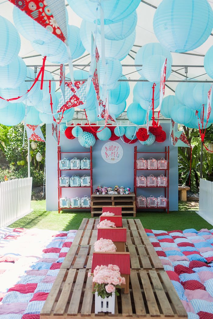 Partyscape from a Beanie Boos Pet Adoption Themed Birthday Party via Kara's Party Ideas | KarasPartyIdeas.com (34)