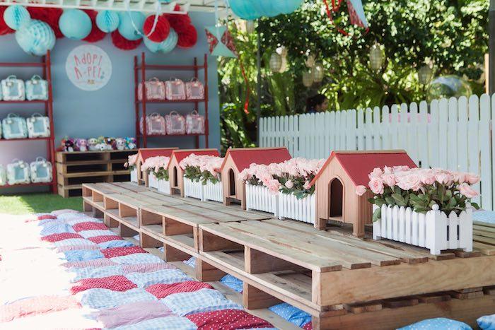 Kids tablescape from a Beanie Boos Pet Adoption Themed Birthday Party via Kara's Party Ideas | KarasPartyIdeas.com (30)