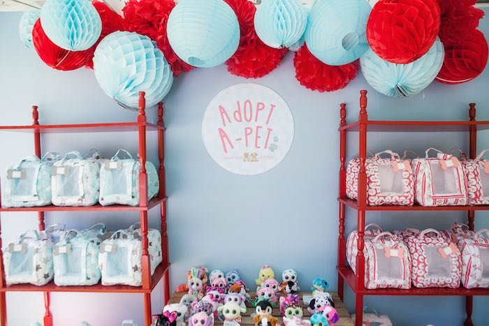 Pet adoption booth from a Beanie Boos Pet Adoption Themed Birthday Party via Kara's Party Ideas | KarasPartyIdeas.com (28)
