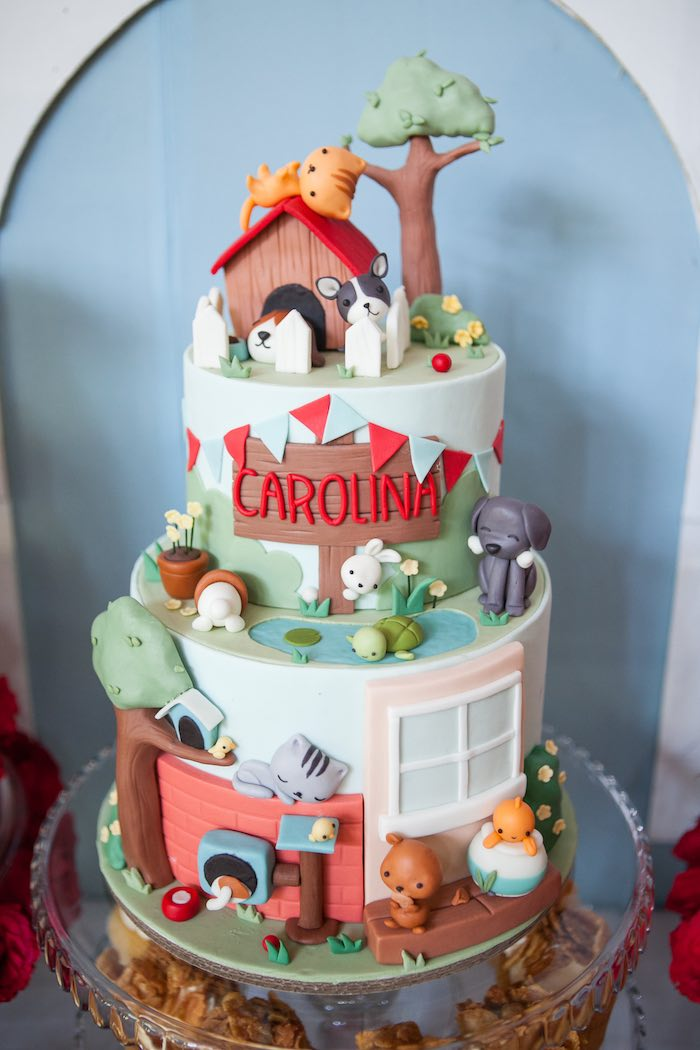 Cake from a Beanie Boos Pet Adoption Themed Birthday Party via Kara's Party Ideas | KarasPartyIdeas.com (49)