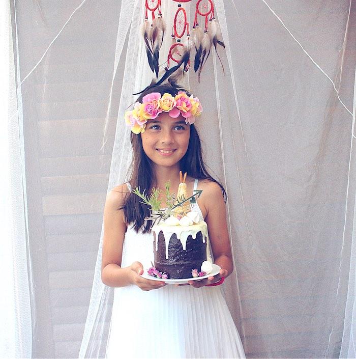 Bohemian princess from a Bohemian Tween Birthday Party via Kara's Party Ideas | KarasPartyIdeas.com (3)