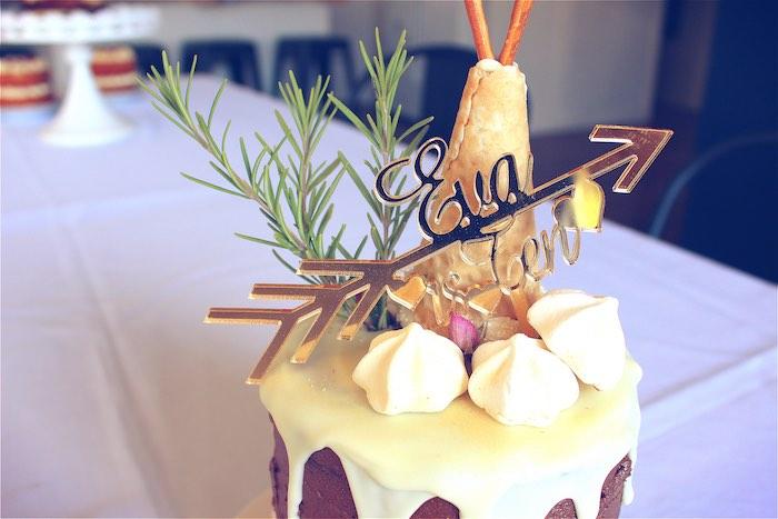 Birthday cake from a Bohemian Tween Birthday Party via Kara's Party Ideas | KarasPartyIdeas.com (13)