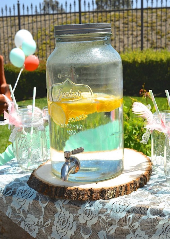 Drink Dispenser From A Boho Dreams Baby Shower Brunch Via Karau0027s Party Ideas    KarasPartyIdeas.