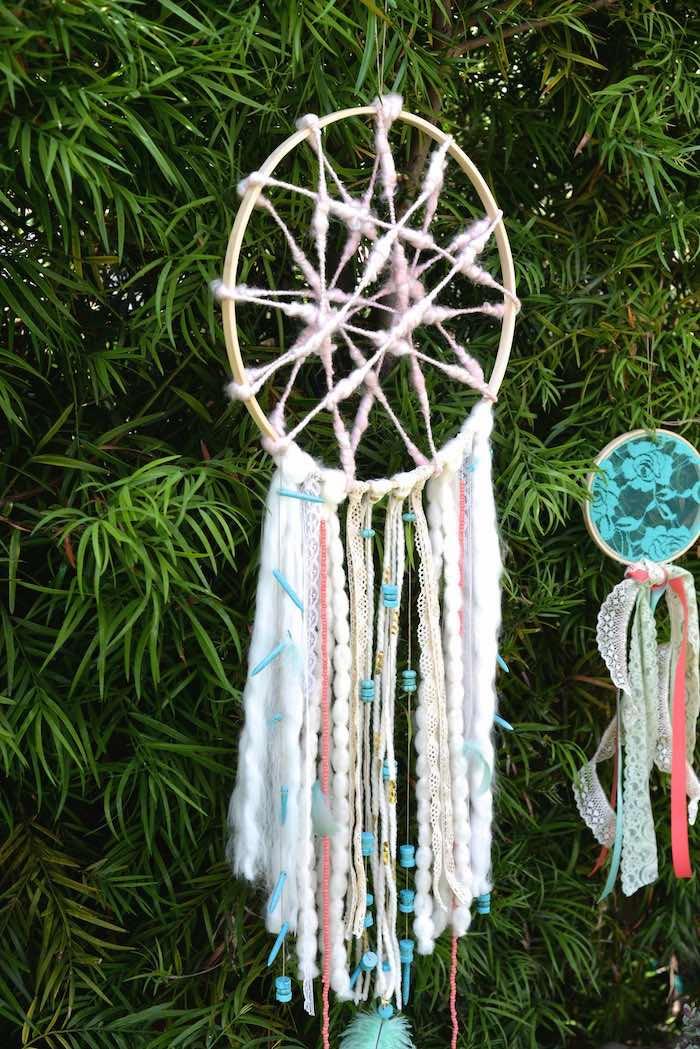 Dreamcatcher from a Boho Dreams Baby Shower Brunch via Kara's Party Ideas | KarasPartyIdeas.com