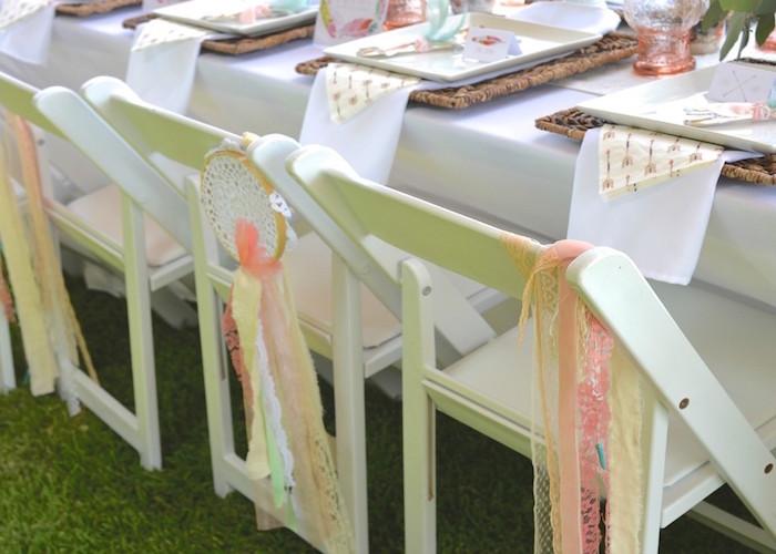 Guest table details from a Boho Dreams Baby Shower Brunch via Kara's Party Ideas - KarasPartyIdeas.com (16)