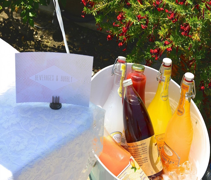 Beverages from a Boho Dreams Baby Shower Brunch via Kara's Party Ideas - KarasPartyIdeas.com (12)