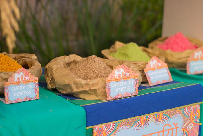 Grains + food from a Bollywood Inspired Birthday Party via Kara's Party Ideas | KarasPartyIdeas.com (6)