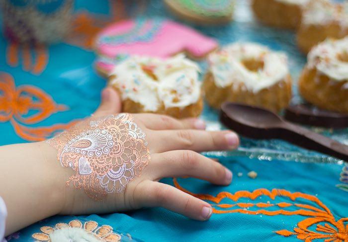 Henna tattoo from a Bollywood Inspired Birthday Party via Kara's Party Ideas | KarasPartyIdeas.com (5)