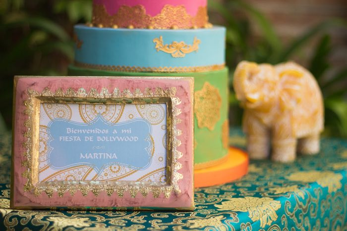 Welcome sign from a Bollywood Inspired Birthday Party via Kara's Party Ideas | KarasPartyIdeas.com (4)